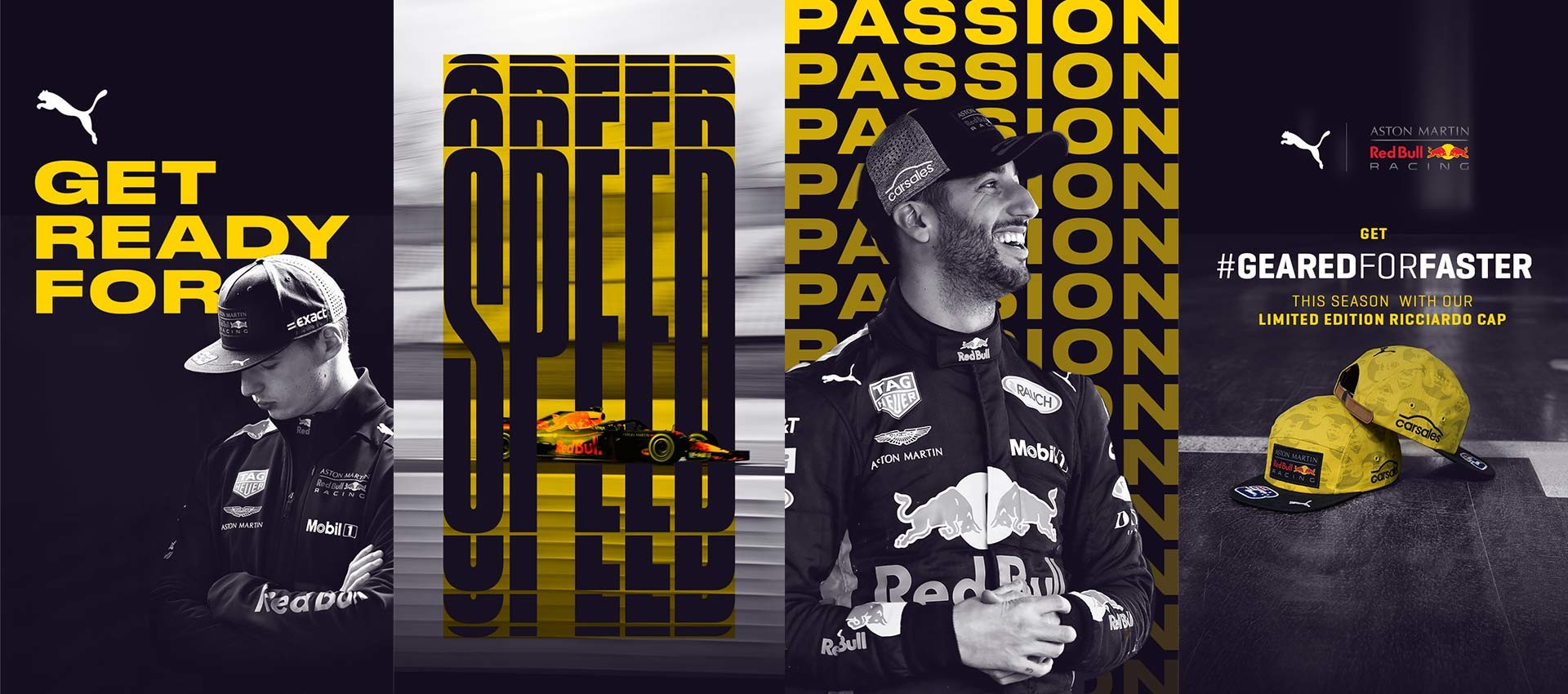 PUMA Red Bull Racing Instagram Story creative with Daniel Ricciardo and Max Verstappen