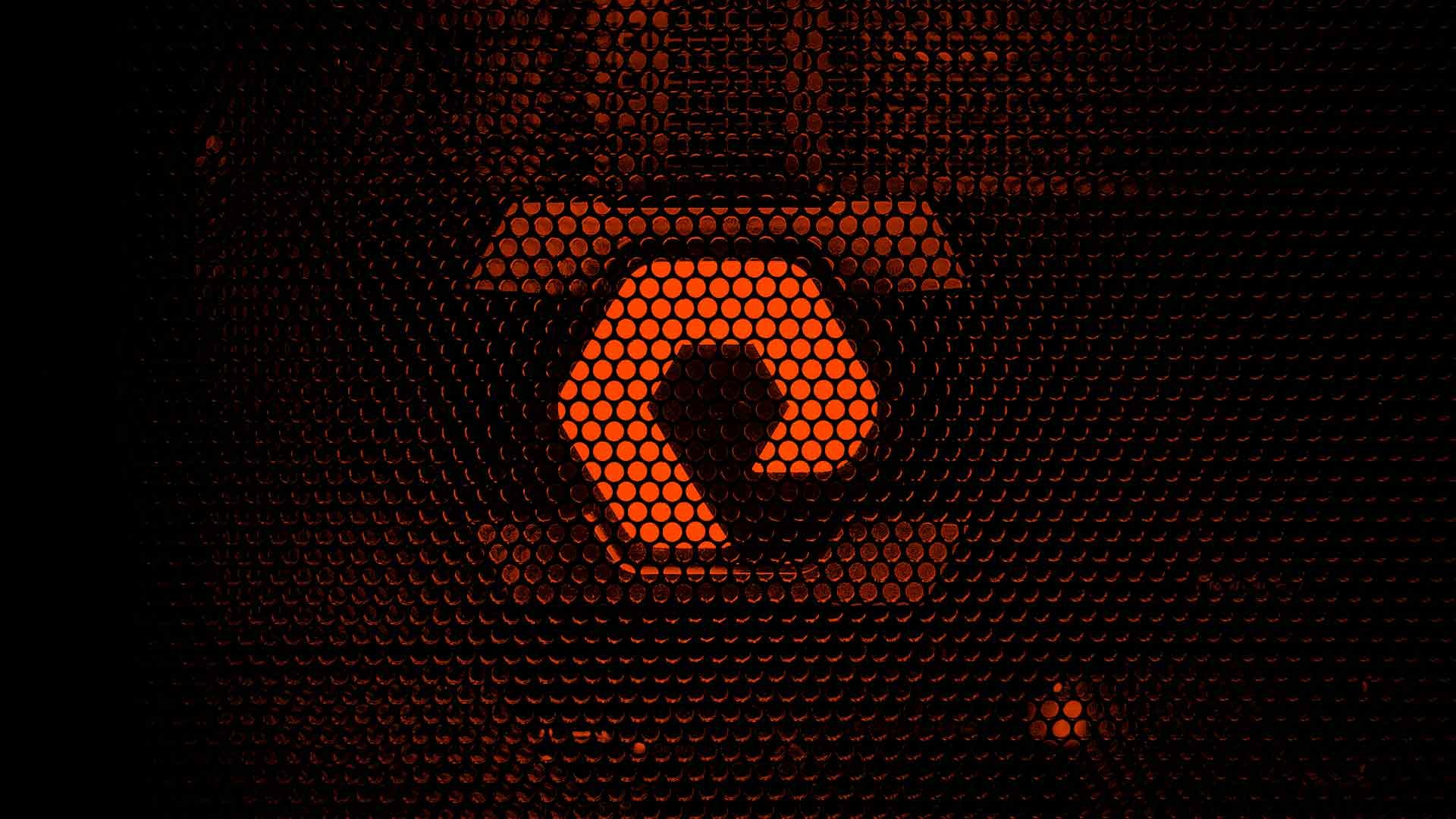 Pure Storage logo behind mesh