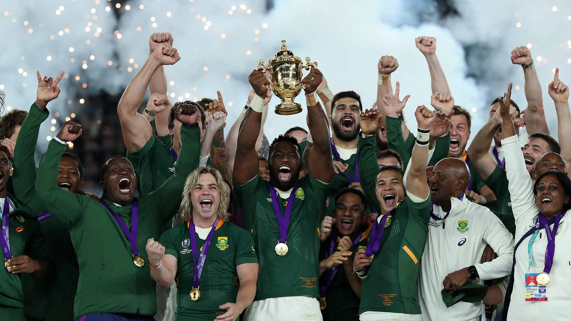 South African win the Rugby World Cup 2019