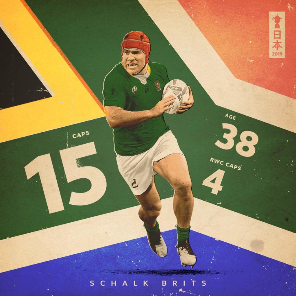 Creative graphic celebrating Schalk Brits statistics for South Africa