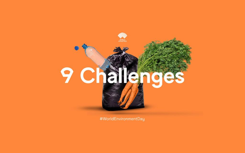 World Athletics creative for 9 Environmental Challenges campaign