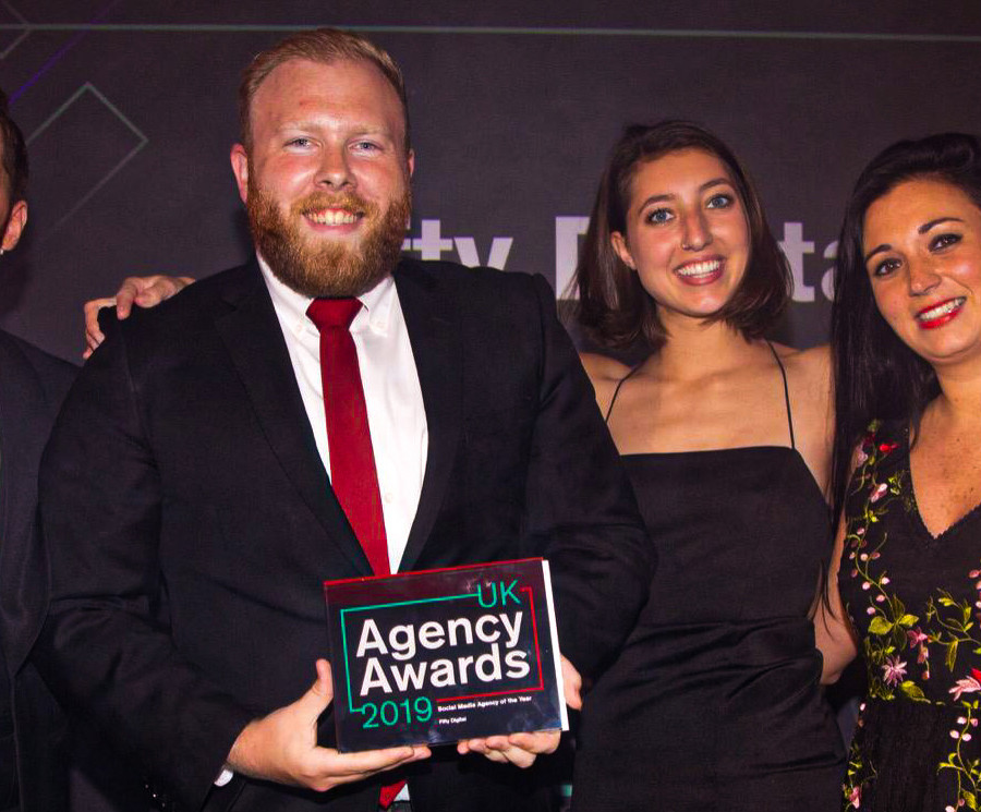 Max and Charlotte at the UK Agency Awards 2019