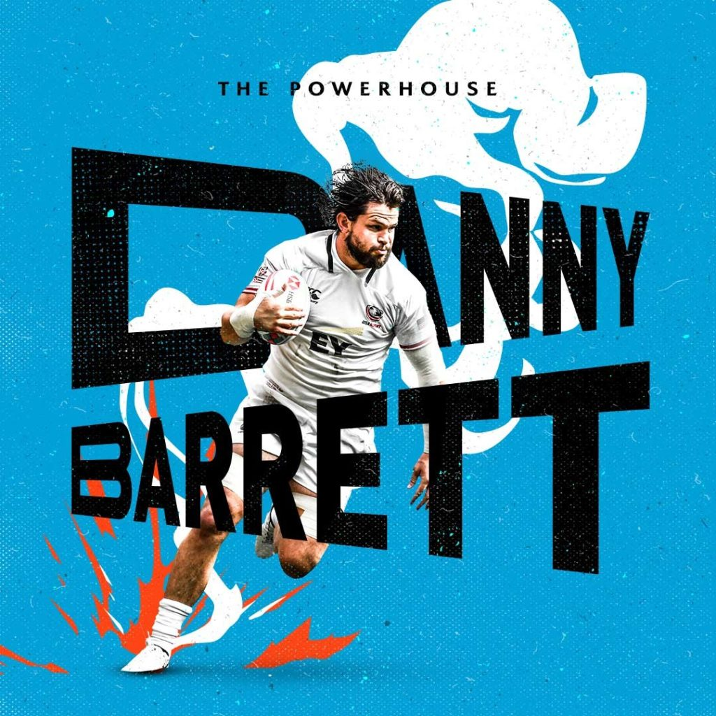 HSBC Sevens Series creative of Danny Barrett