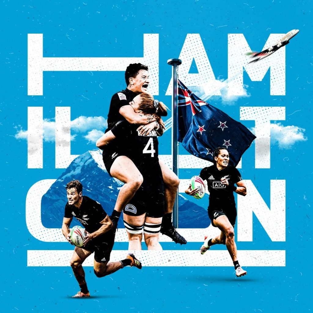 HSBC Sevens Series creative teaser for tournament in Hamilton