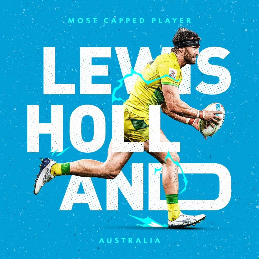 HSBC Sevens Series creative of Lewis Holland