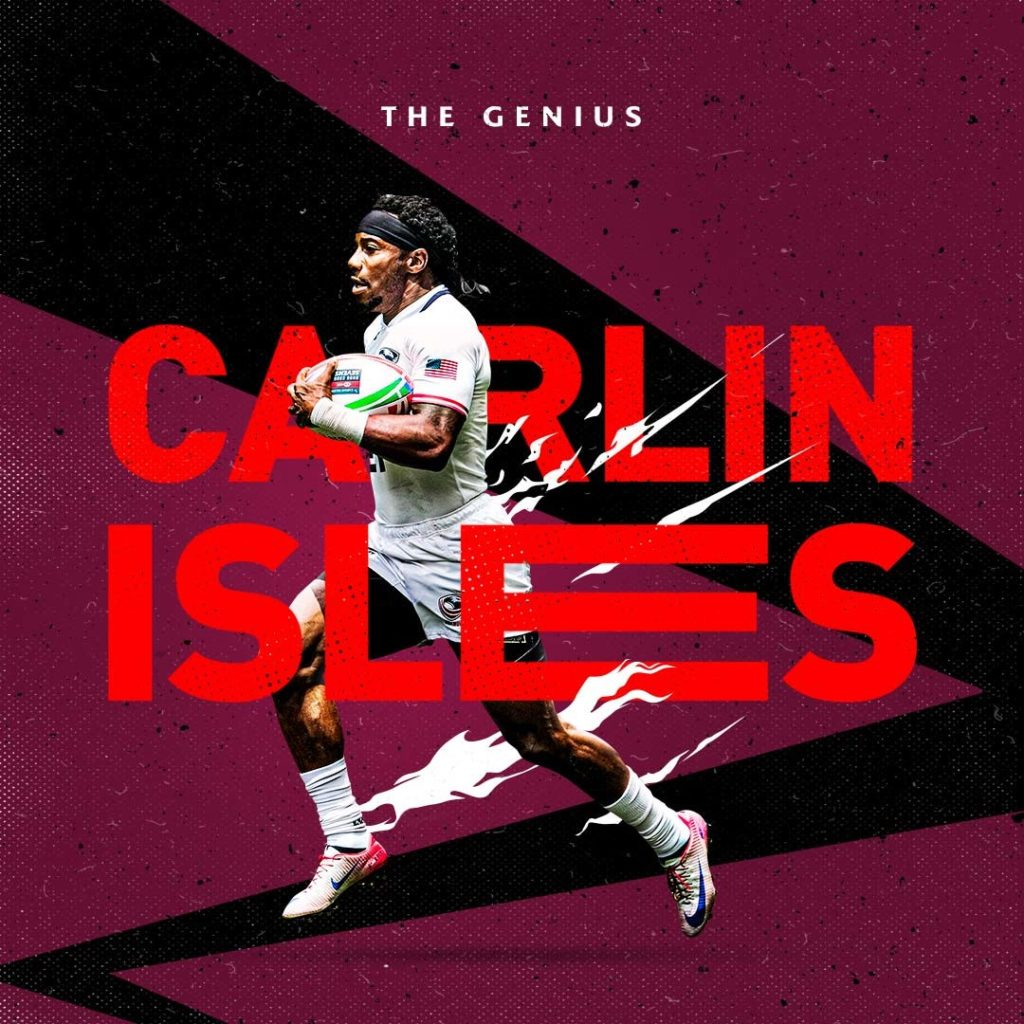 HSBC Sevens Series creative of Carlin Isles
