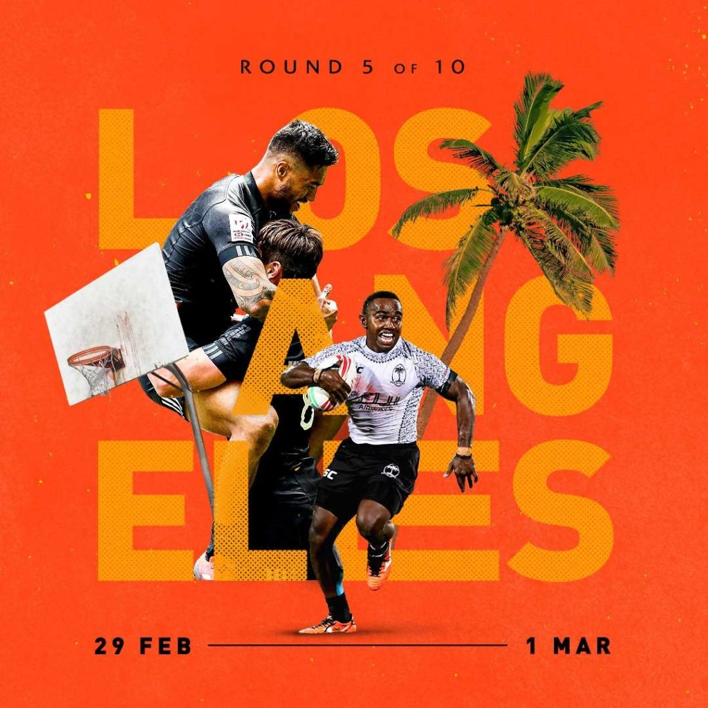 HSBC Sevens Series creative teaser for tournament in Los Angeles