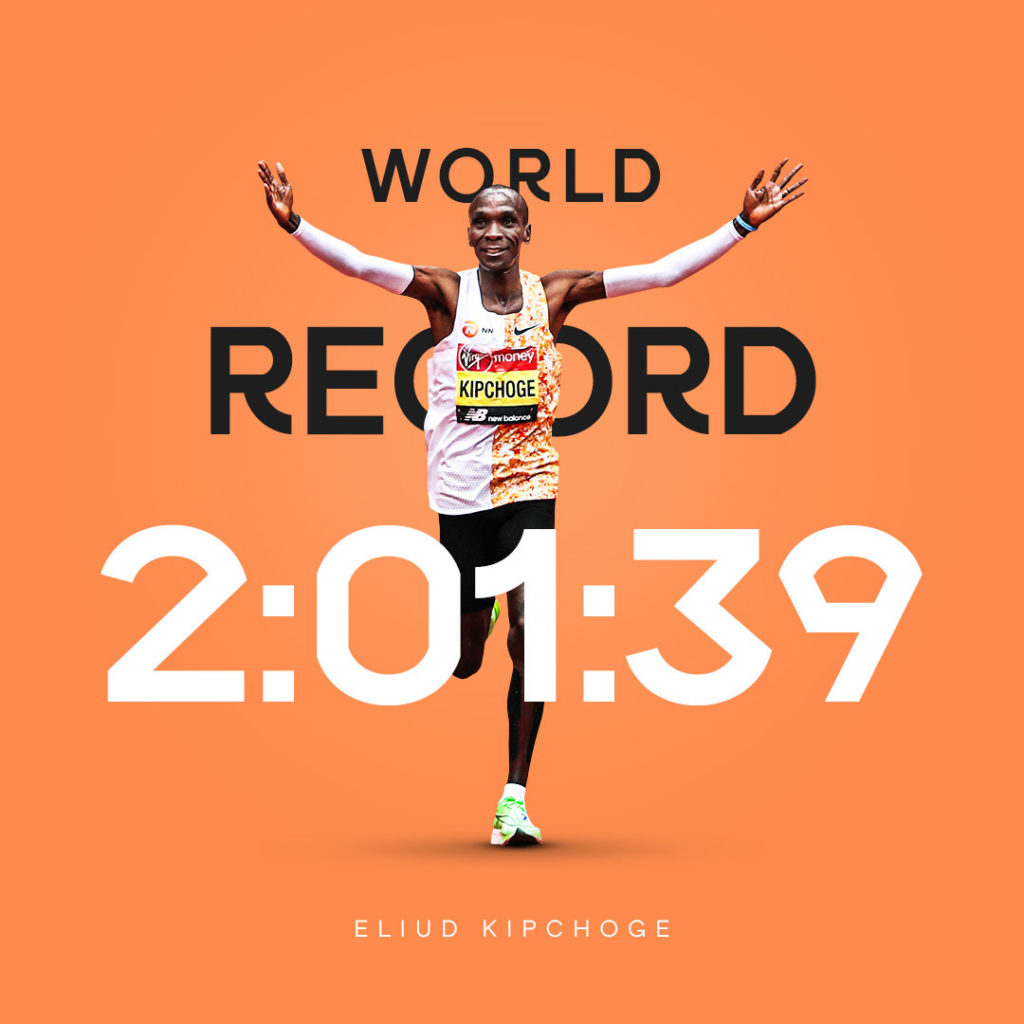 World Athletics creative for Eliud Kipchoge World Record