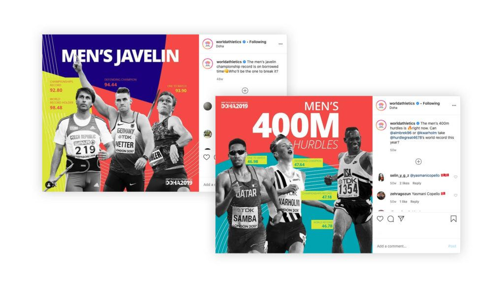 Creative build up posts on Twitter ahead for Doha 2019
