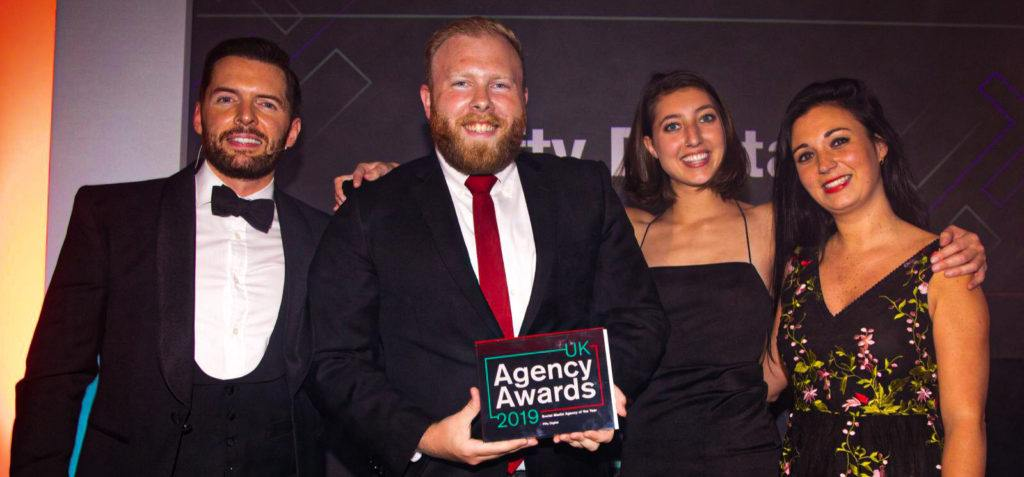 Max and Charlotte at UK Agency Awards 2019