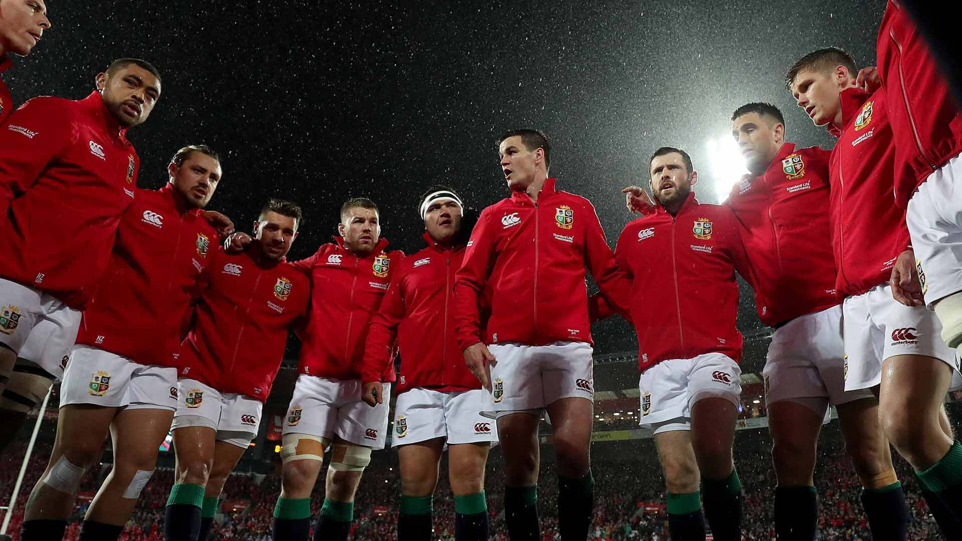 British & Irish Lions in a huddle during a match