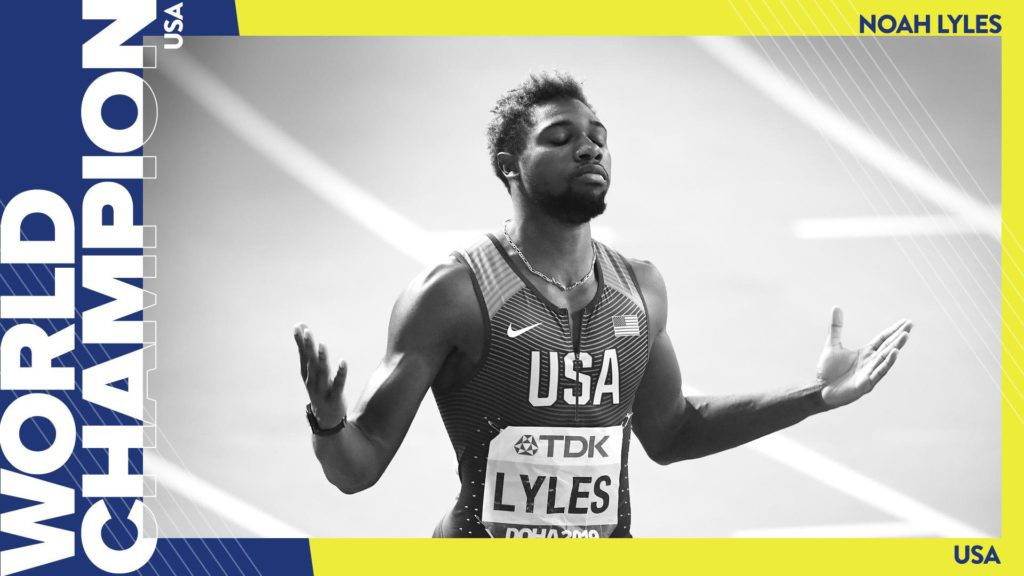 Doha 2019 template graphic - Noah Lyles