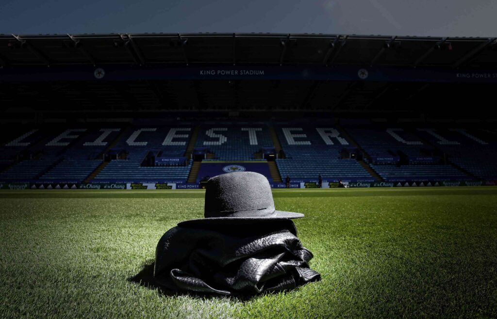 Undertaker outfit on Leicester City pitch